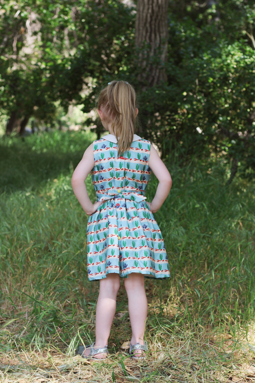 Palava Penny Dress in Lobster Rows