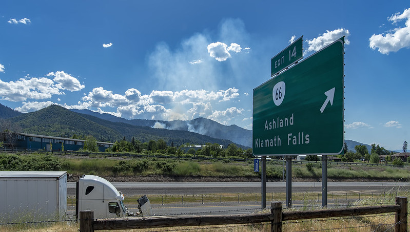 Ashland, Oregon controlled burn beyond Exit 14