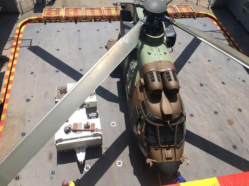 Unidad de #helis de las Fuerzas Aeromóviles #EjércitodeTierra que desplegará con la coalición para apoyar a #Irak