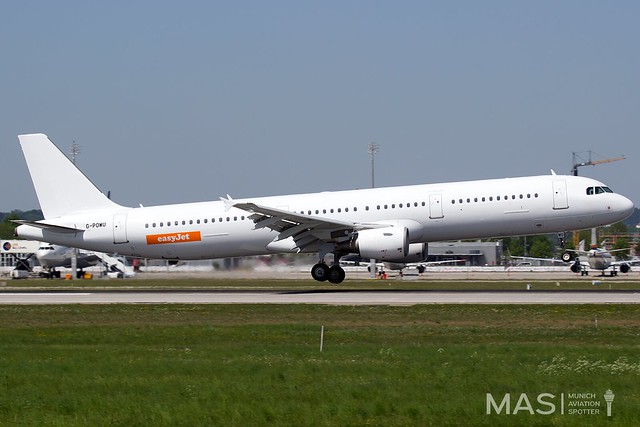 easyJet (Titan Airways) A321-200 G-POWU @ MUC