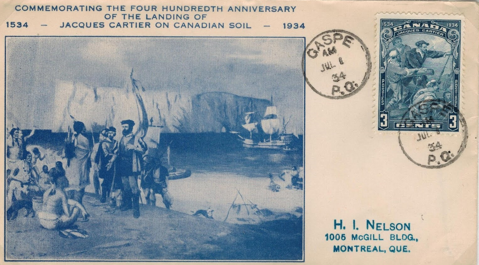 Canada - Scott #208 (1934) first day cover