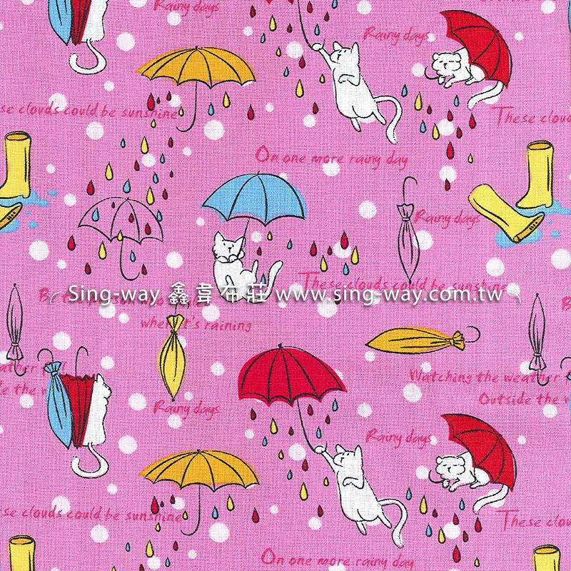 原-伞下猫 (大特价) 猫 可爱动物 猫咪 童趣 雨伞 雨滴 卡通图案 手工