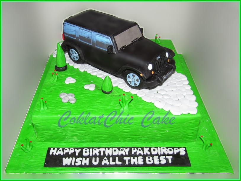 Cake Jeep Wrangler PAK DIROPS 22 cm