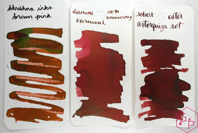 Krishna Inks Brown Pink Fountain Pen Ink Review @PenChalet 3