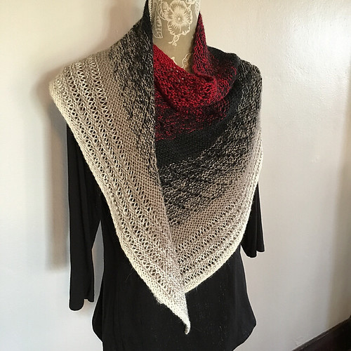 Transient Shawl by Michelle Hunter of Knit Purl Hunter