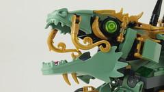 Sensai Wus emerald Dragon Mono of Tassel Spinjitzu
