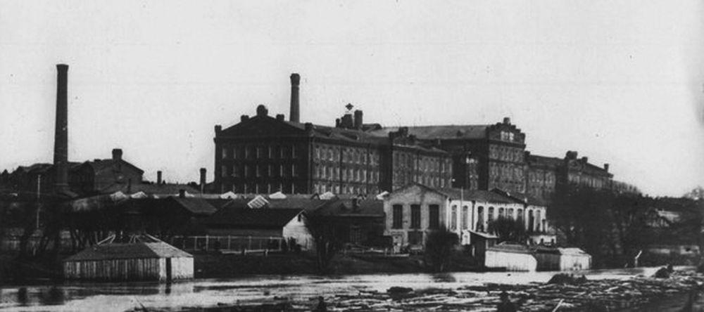 Вид на ярцевскую фабрику Хлудовых. Конец XIX века