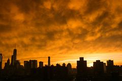 Sunset after the storm, New York