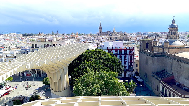View across Seville rooftops from las Setas de Sevilla - top things to do in Seville, Spain