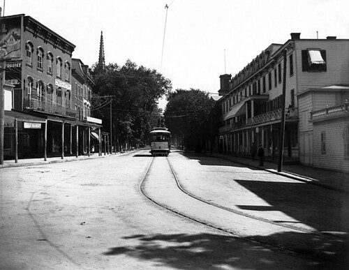 Peekskill Trolley on Main St., circa 1900