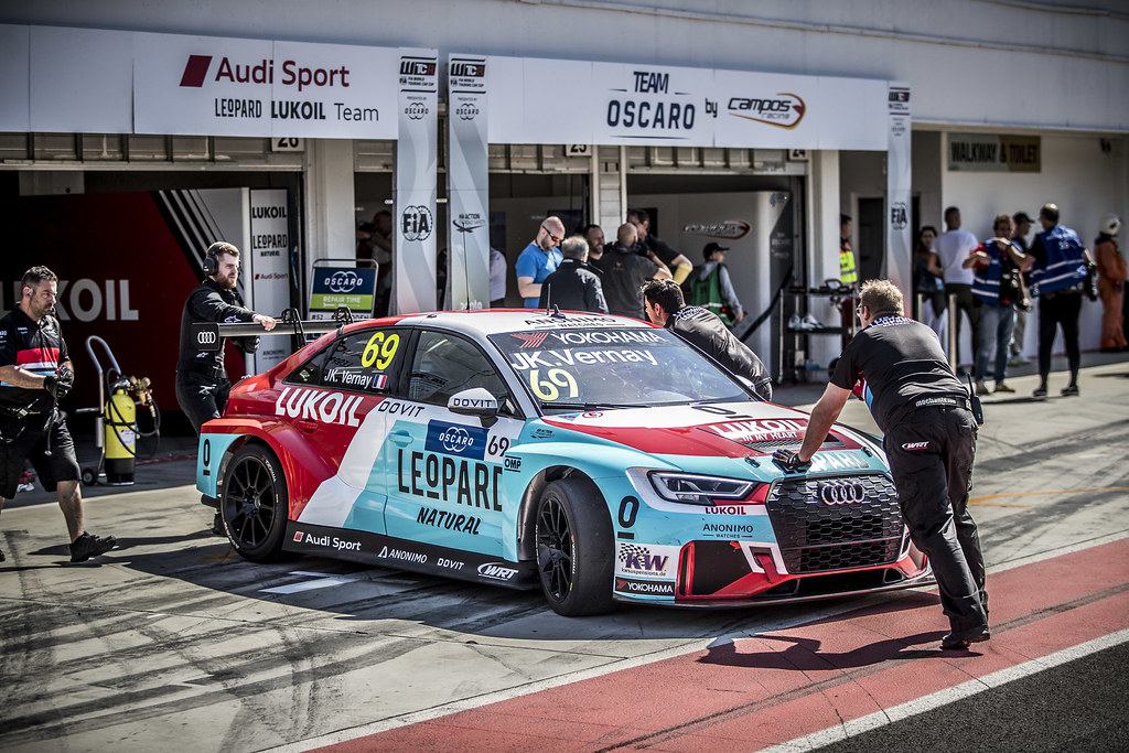 VERNAY Jean-Karl (FRA), Audi Sport Leopard Lukoil Team, Audi RS3 LMS, stand pit lane, during the 2018 FIA WTCR World Touring Car cup, Race of Hungary at hungaroring, Budapest from april 27 to 29 - Photo Gregory Lenormand / DPPI