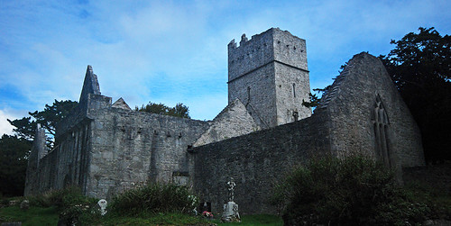 The ruin of Muckross Abbey in Killarney National Park, Ireland