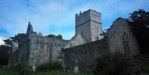 The ruin of Muckross Abbey in Killarney National Park, Ireland