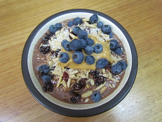 Cocoa and Peanut Butter Overnight Oats