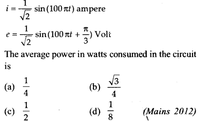 NEET AIPMT Physics Chapter Wise Solutions - Electromagnetic Induction and Alternating Current 13