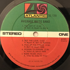 AVERAGE WHITE BAND:AVERAGE WHITE BAND(LABEL SIDE-A)