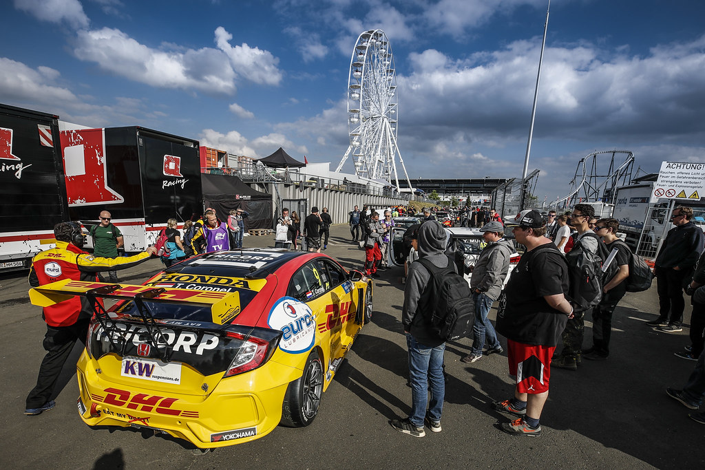09 CORONEL Tom (NLD), Boutsen Ginion Racing, Honda Civic TCR, ambiance paddock during the 2018 FIA WTCR World Touring Car cup of Nurburgring, Nordschleife, Germany from May 10 to 12 - Photo Florent Gooden / DPPI