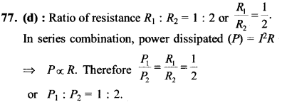 NEET AIPMT Physics Chapter Wise Solutions - Current Electricity explanation 77