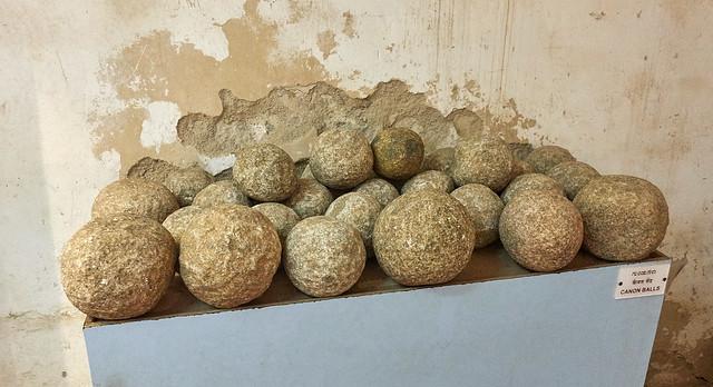 Granite cannon balls