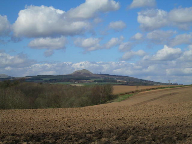 Farmland and Lomond Hills in Fife