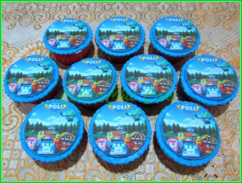 Cupcake edible Image Robocar Poli