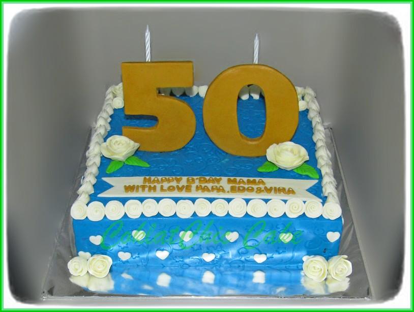 Cake angka 50 MAMA 30 cm