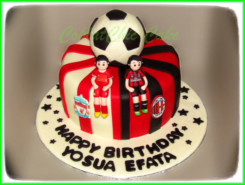 Cake Football club AC Milan liverpool YOSUA EFATA 18 cm