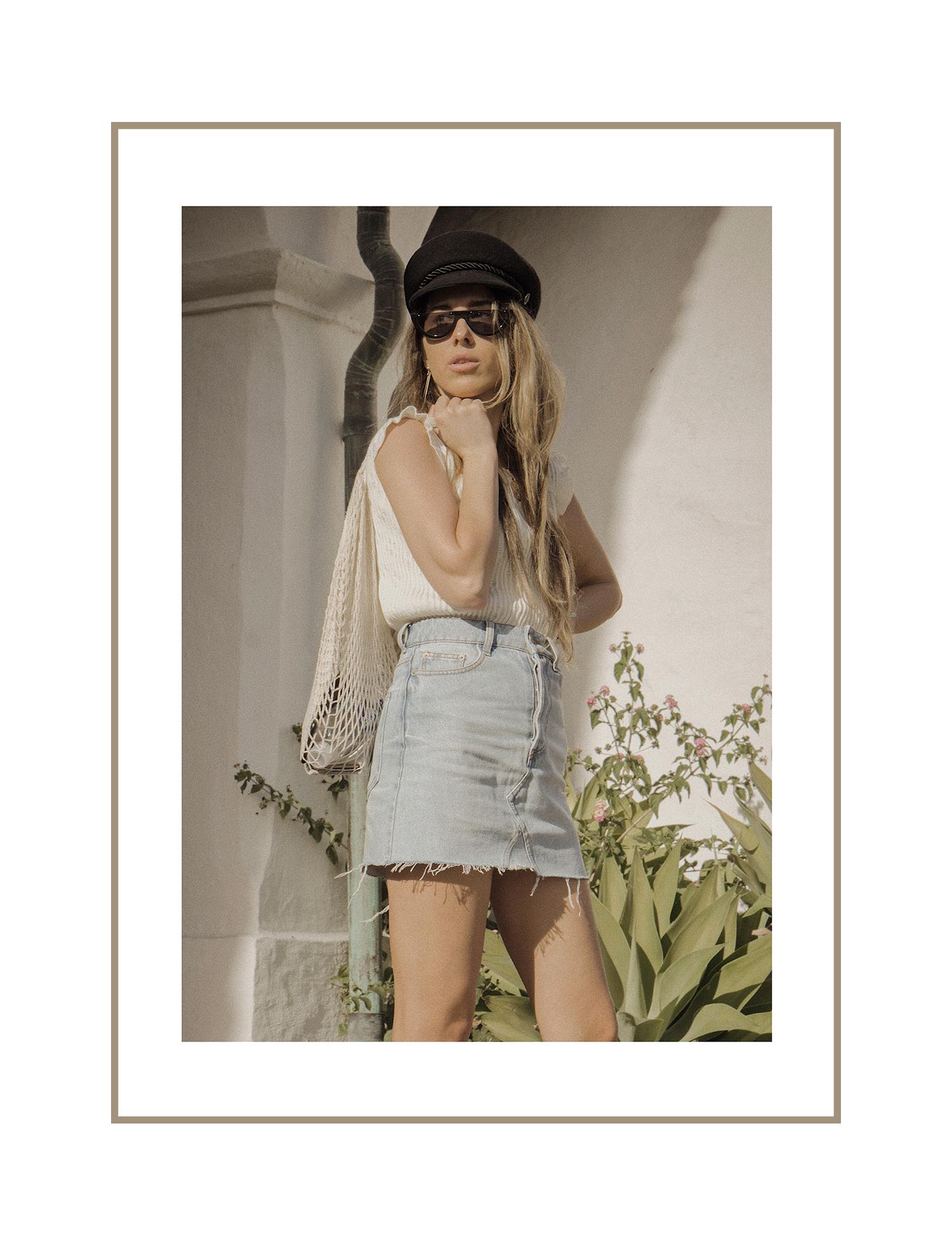 santa_barbara_street_style_denim)skirt_summer_outfit_cap_net_bag_ternd_2018_lena_juice_thewhiteocean_01