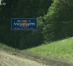 Crossing the Missssippi State Line - April 2015