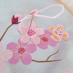 Here's another sneaky peak at the new cherry blossom embroidery kit and pattern which will be available on Friday! 🌸🌸🌸