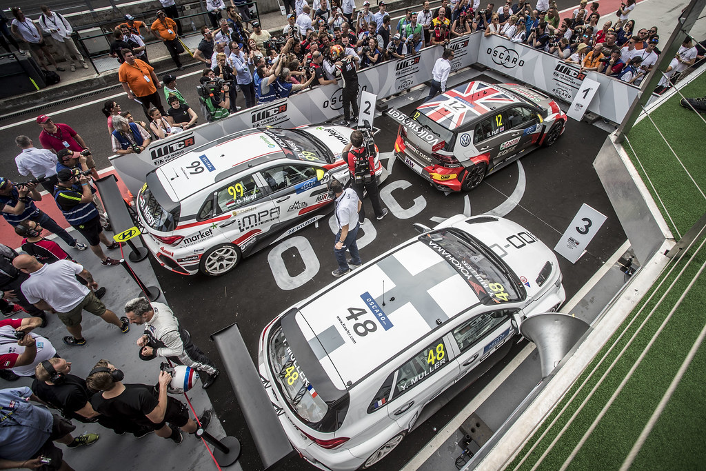 PODIUM HUFF Rob (GBR), Sebastien Loeb Racing, Volkswagen Golf GTI TCR, portrait during the 2018 FIA WTCR World Touring Car cup, Race of Hungary at hungaroring, Budapest from april 27 to 29 - Photo Gregory Lenormand / DPPI