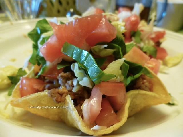 Taco Salads at From My Carolina Home
