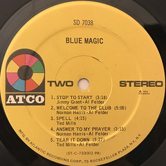 BLUE MAGIC:BLUE MAGIC(LABEL SIDE-B)