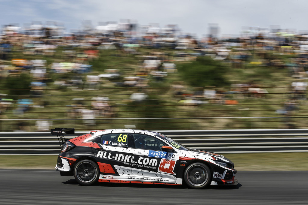 68 EHRLACHER Yann, (fra), Honda Civic TCR team ALL-INKL.COM Munnich Motorsport, action during the 2018 FIA WTCR World Touring Car cup of Zandvoort, Netherlands from May 19 to 21 - Photo Jean Michel Le Meur / DPPI