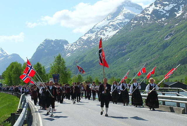 The Parade celebrating Norway's National Day in Olden :-))