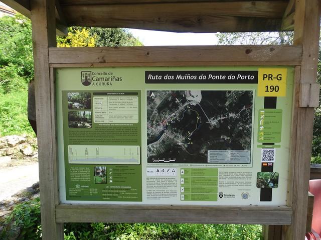 Panel Inicio PR-G 190 Ruta dos Muíños da Ponte do Porto