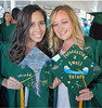 Audrey Uhl and Jacqueline Waters received their BS in atmospheric sciences and are ready to take the world by storm and forecasting a swell future.  The University of Hawaii at Manoa's spring 2018 commencement ceremony was held at the Stan Sheriff Center on Saturday, May 12, 2018.