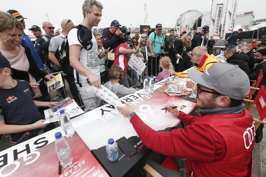 AUTOGRAPH SESSION, VERNAY Jean-Karl, (fra), Audi RS3 LMS TCR team Audi Sport Leopard Lukoil, portrait ambiance during the 2018 FIA WTCR World Touring Car cup of Zandvoort, Netherlands from May 19 to 21 - Photo Jean Michel Le Meur / DPPI