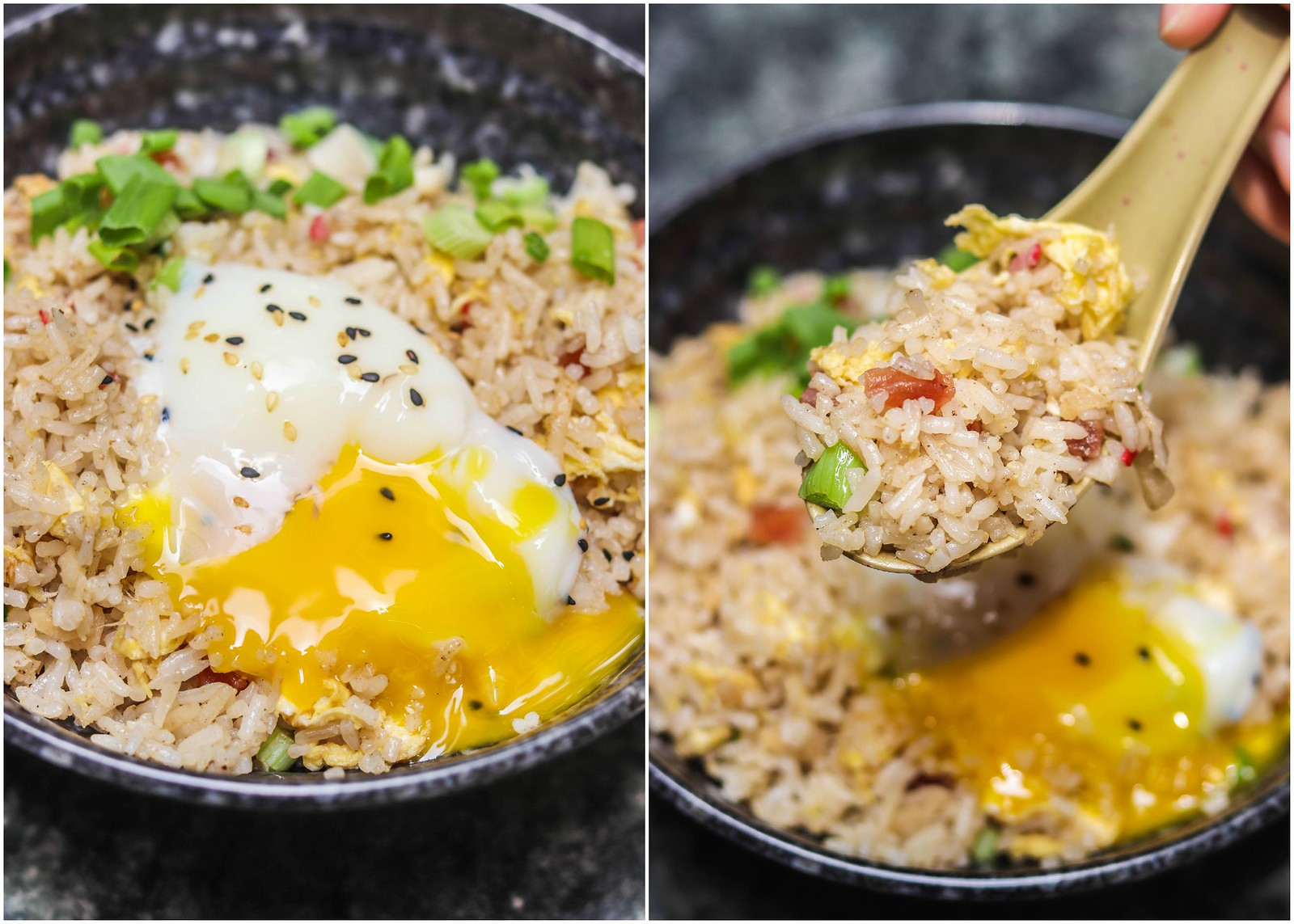 cai pofried rice -collage