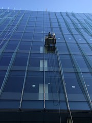 Window washer on new building, Pennsylvania Avenue NW, Washington, D.C.