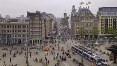 Amsterdam zicht op Dam en CS