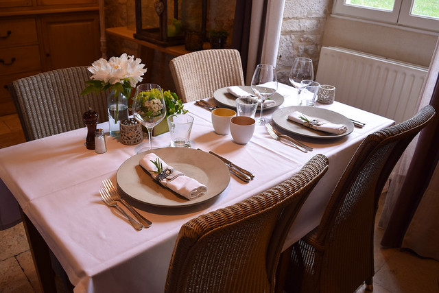 Dining Room at Manoir de Malagorse, France #hotel #travel #france