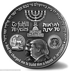 Mikdash trump Jerusalem medal obverse