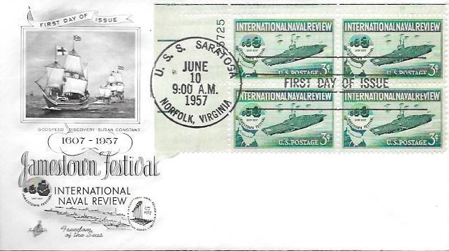 United States - Scott #1091 (1957) first day cover
