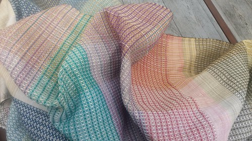 Cotton handwoven fabric, it will be cut into four tea towels