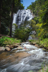 Waterfall in the forest, Deep forest waterfall in thailand, Klong lan waterfall