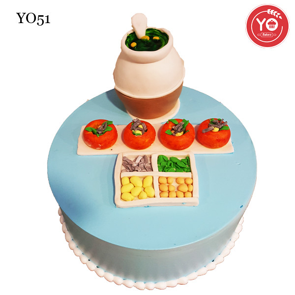 Panipuri Theme Cake