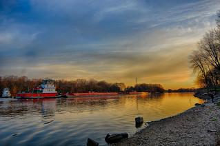 Evening River Traffic
