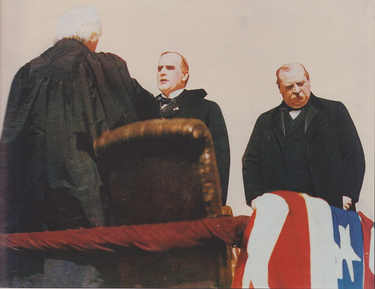 William McKinley is sworn in as President of the United States.