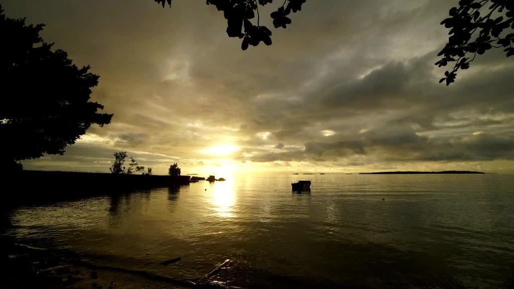 Sunset at Morotai, North Moluccas